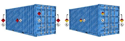Trasporto di merce pericolosa in container