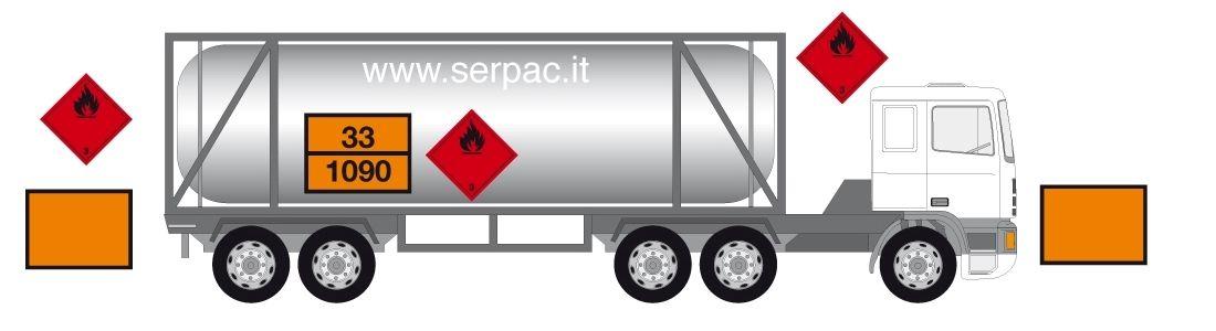Trasporto merci pericolose in container-cisterna unica
