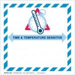 Etichetta Time & Temperature Sensitive