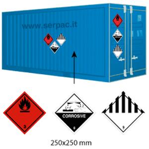 Etichettatura container caricato con-classi diverse 300x300