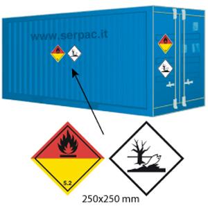 Etichettatura container classe 5.2 e pericolose per ambiente 300x300