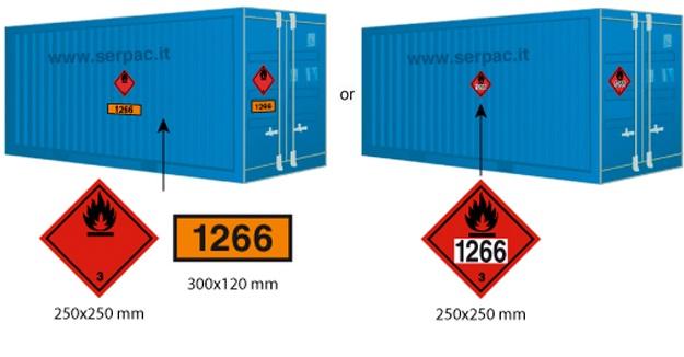 Etichettatura container classe 3 superiore 4000 kg
