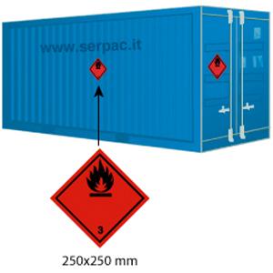 Etichettatura container classe 3