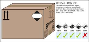 Imballaggio etichettato per merci pericolose imballata in quantità limitata capitolo 3.4 ADR - RID - ADN - IMDG